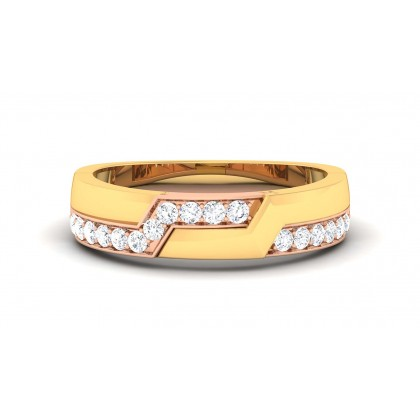 SAMARA DIAMOND BANDS RING in 18K Gold
