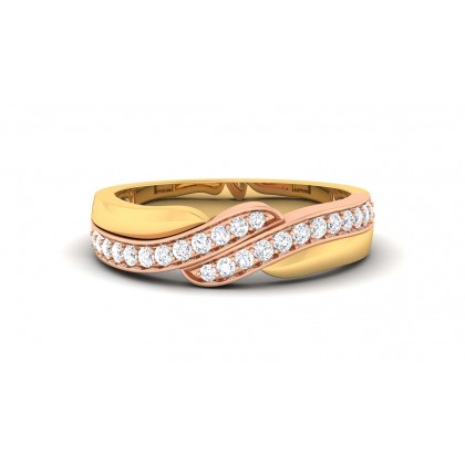 LIV DIAMOND BANDS RING in 18K Gold