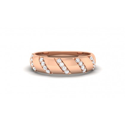 ALDA DIAMOND BANDS RING in 18K Gold