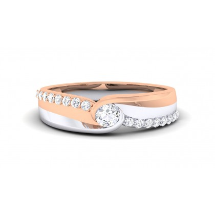 BLAKE DIAMOND BANDS RING in 18K Gold