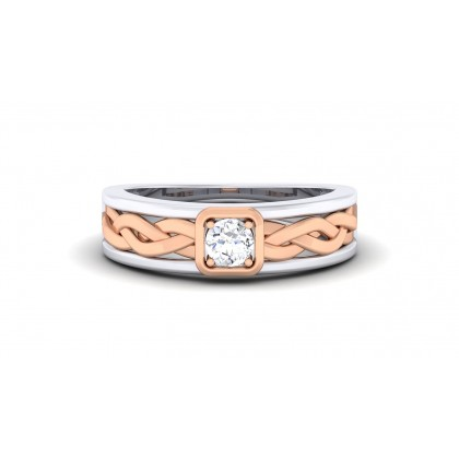 CALEIGH DIAMOND BANDS RING in 18K Gold