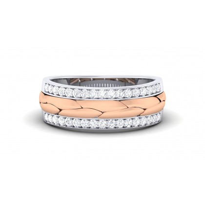 GOPIKA DIAMOND BANDS RING in 18K Gold