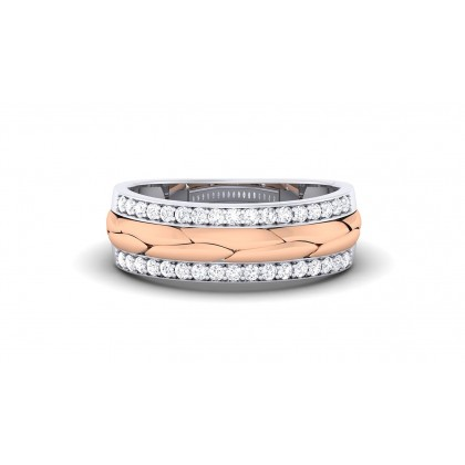 CAROLYN DIAMOND BANDS RING in 18K Gold
