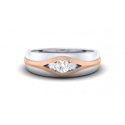 JOIE DIAMOND BANDS RING in 18K Gold