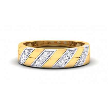 SOFIA DIAMOND BANDS RING in 18K Gold