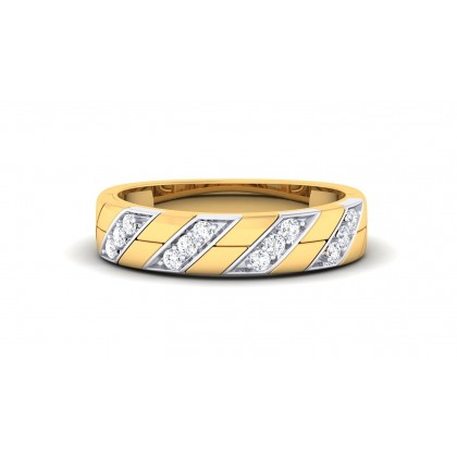 LILA DIAMOND BANDS RING in 18K Gold