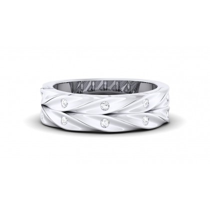 ARIADNA DIAMOND BANDS RING in 18K Gold