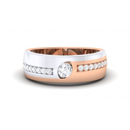 SUNETRA DIAMOND BANDS RING in 18K Gold