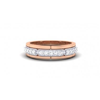 KUSHALA DIAMOND BANDS RING in 18K Gold