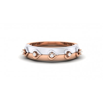 VITI DIAMOND BANDS RING in 18K Gold