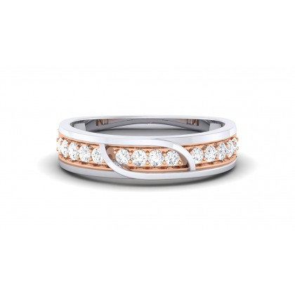LIYA DIAMOND BANDS RING in 18K Gold