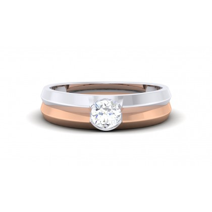 KAYLAH DIAMOND BANDS RING in 18K Gold