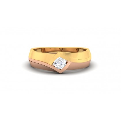 LESLY DIAMOND BANDS RING in 18K Gold