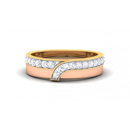 ASWATHI DIAMOND BANDS RING in 18K Gold
