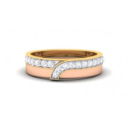 ASWATHI DIAMOND BANDS RING in 18K Gold