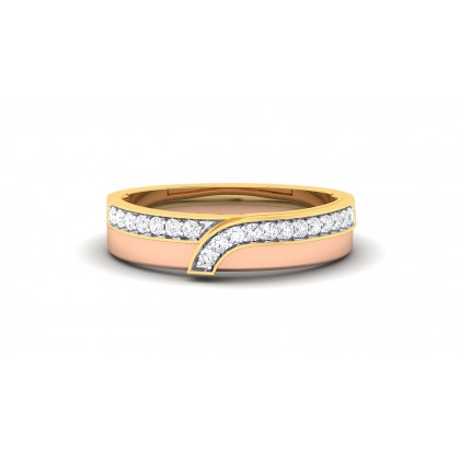 AMALA DIAMOND BANDS RING in 18K Gold