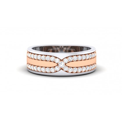 ANAHITA DIAMOND BANDS RING in 18K Gold