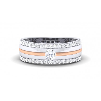 DAYITA DIAMOND BANDS RING in 18K Gold