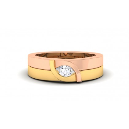 SUSITA DIAMOND BANDS RING in 18K Gold