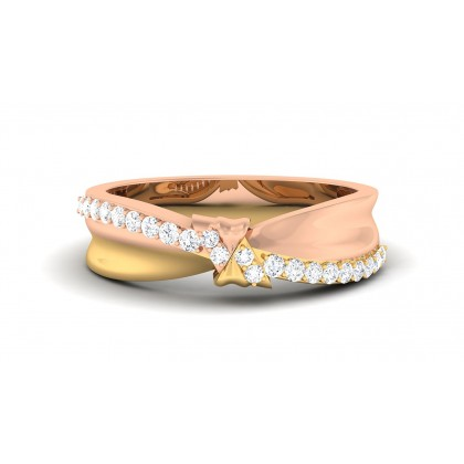 SUNISKA DIAMOND BANDS RING in 18K Gold