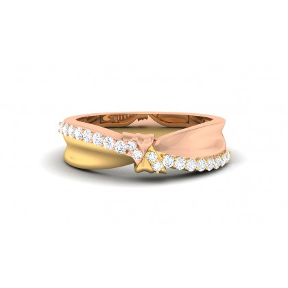SUNAMYA DIAMOND BANDS RING in 18K Gold