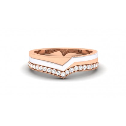AMIRAH DIAMOND BANDS RING in 18K Gold