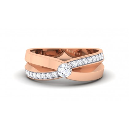 MELODIE DIAMOND BANDS RING in 18K Gold