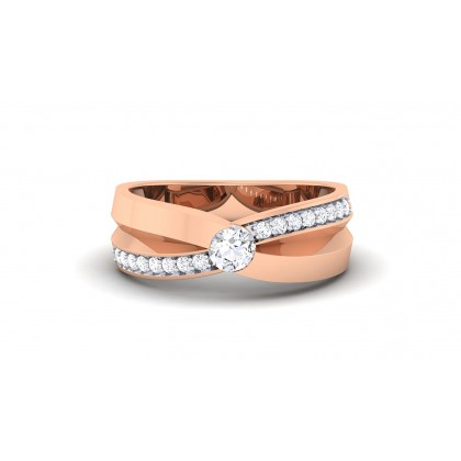 SINDHU DIAMOND BANDS RING in 18K Gold
