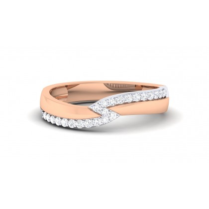 DIANE DIAMOND BANDS RING in 18K Gold