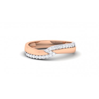 NIKITA DIAMOND BANDS RING in 18K Gold