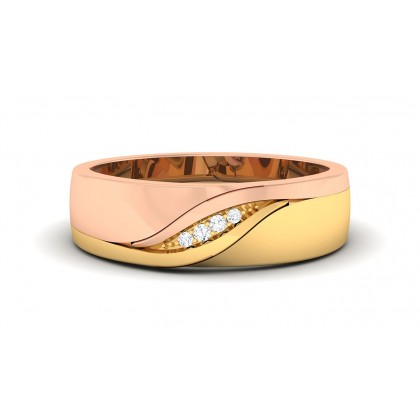 CARMEN DIAMOND BANDS RING in 18K Gold