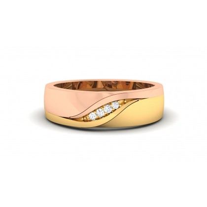 LIPIKA DIAMOND BANDS RING in 18K Gold