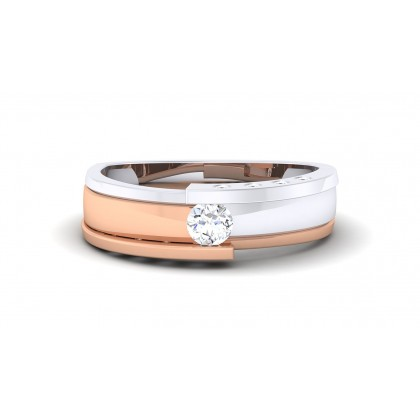 EZRA DIAMOND BANDS RING in 18K Gold