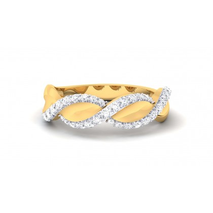 SAMAIRA DIAMOND BANDS RING in 18K Gold