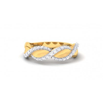 SABITA DIAMOND BANDS RING in 18K Gold