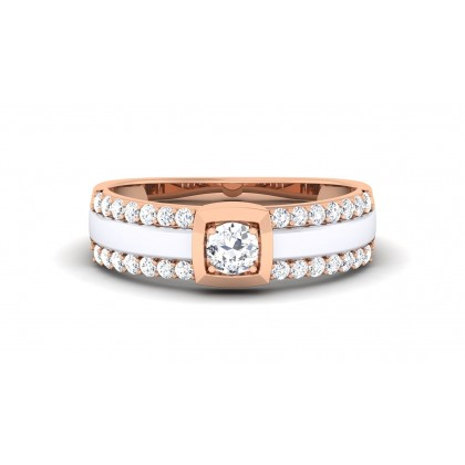 TILAKA DIAMOND BANDS RING in 18K Gold