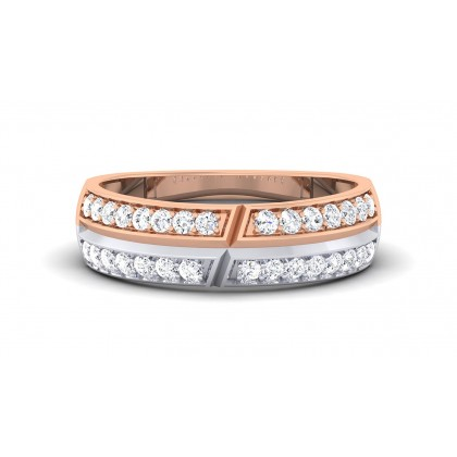 VASUDA DIAMOND BANDS RING in 18K Gold
