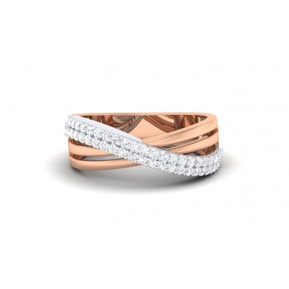 SAHOJ DIAMOND BANDS RING in 18K Gold