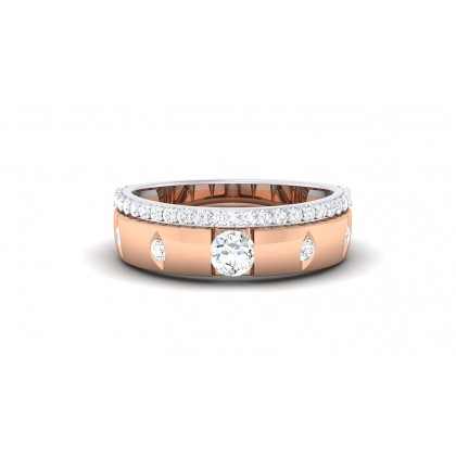 JOSHILA DIAMOND BANDS RING in 18K Gold