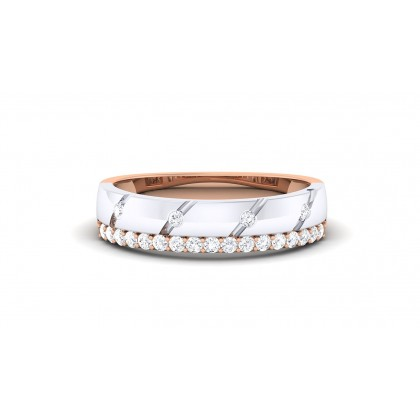 ANA DIAMOND BANDS RING in 18K Gold