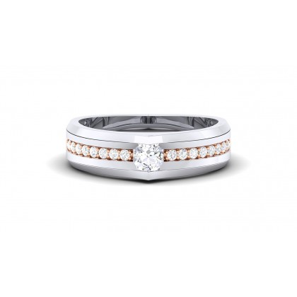 VIJAYA DIAMOND BANDS RING in 18K Gold