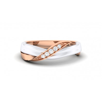 SANJITA DIAMOND BANDS RING in 18K Gold
