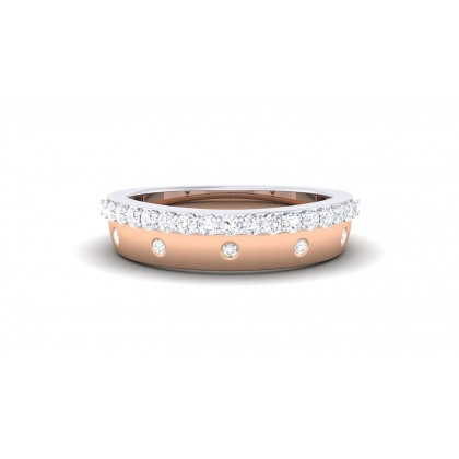 CHLOE DIAMOND BANDS RING in 18K Gold
