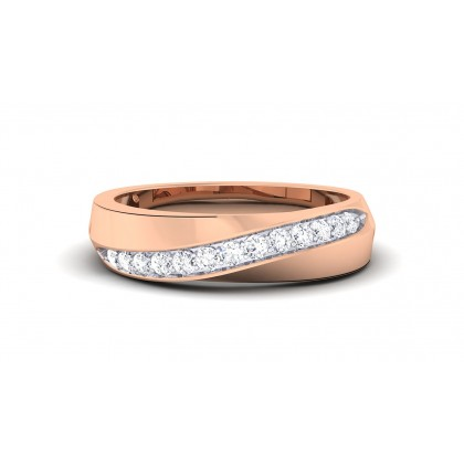 KATIE DIAMOND BANDS RING in 18K Gold