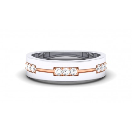 ROHINI DIAMOND BANDS RING in 18K Gold