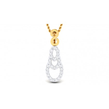 ALYSE DIAMOND FASHION PENDANT in 18K Gold