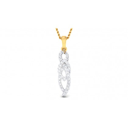 AMIA DIAMOND FASHION PENDANT in 18K Gold