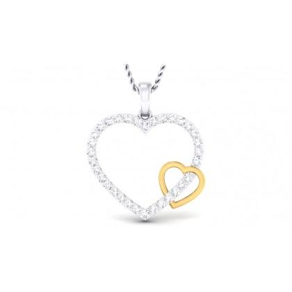 MISHTI DIAMOND HEARTS PENDANT in 18K Gold