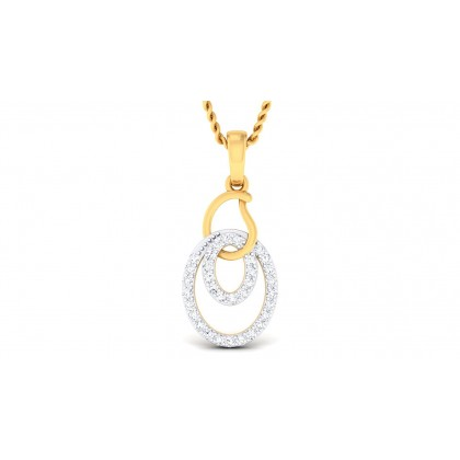 SUNDHA DIAMOND FASHION PENDANT in 18K Gold