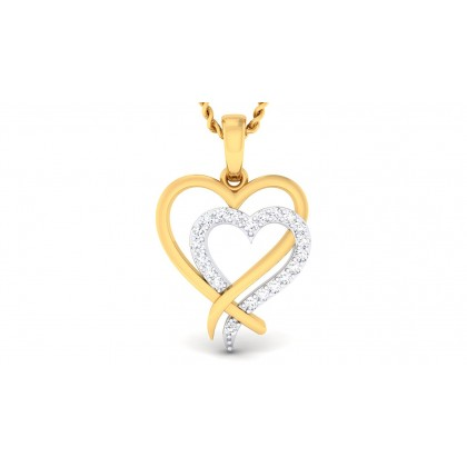 NIPA DIAMOND HEARTS PENDANT in 18K Gold